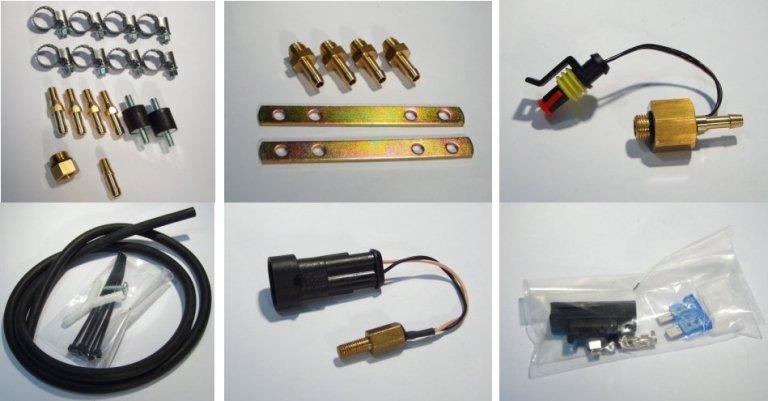 Priedai, dujų sistemų priedai, dujų įrangos priedai